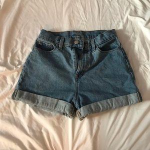 BDG mom shorts denim blue